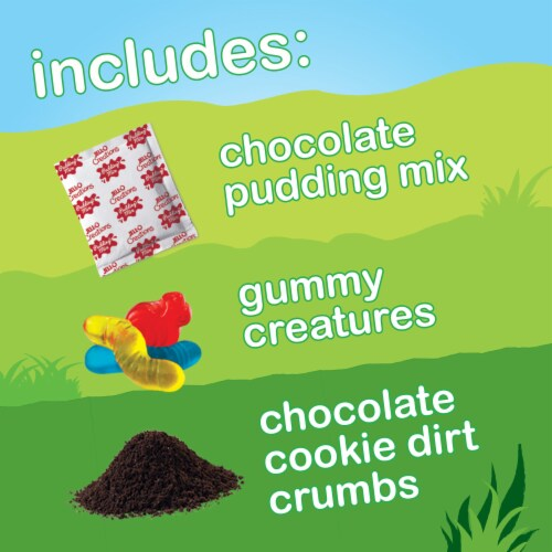 Jell-O Play Chocolate Dirt Dessert Kit Perspective: back