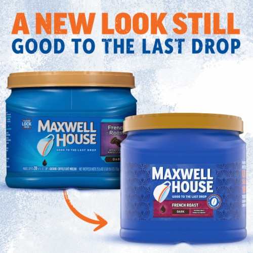 Maxwell House French Roast Dark Ground Coffee Perspective: back