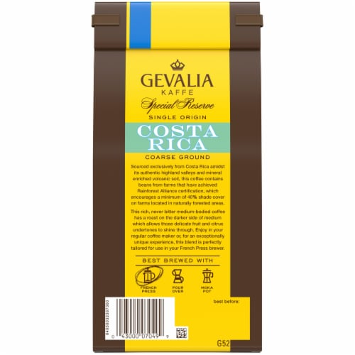 Gevalia Special Reserve Costa Rica Coarse Ground Coffee Perspective: back