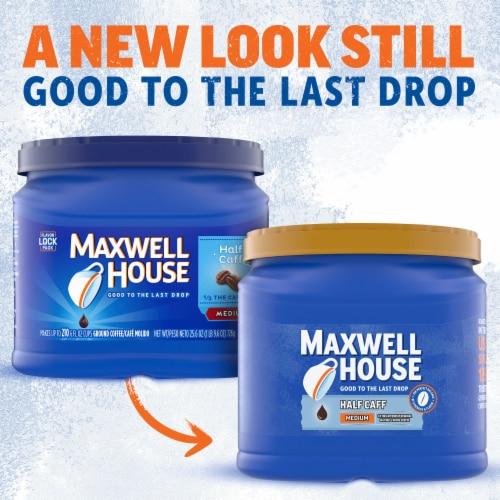 Maxwell House Half Caff Medium Roast Ground Coffee Perspective: back