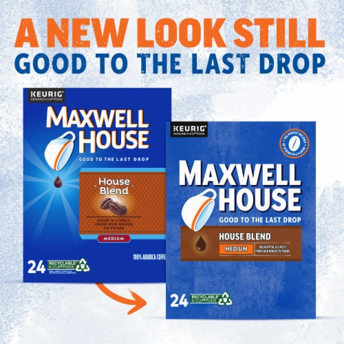 Maxwell House House Blend Medium Roast Coffee K-Cup Pods Perspective: back