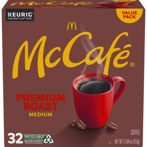 McCafe Premium Roast Medium Coffee K-Cup Pods Value Pack Perspective: back