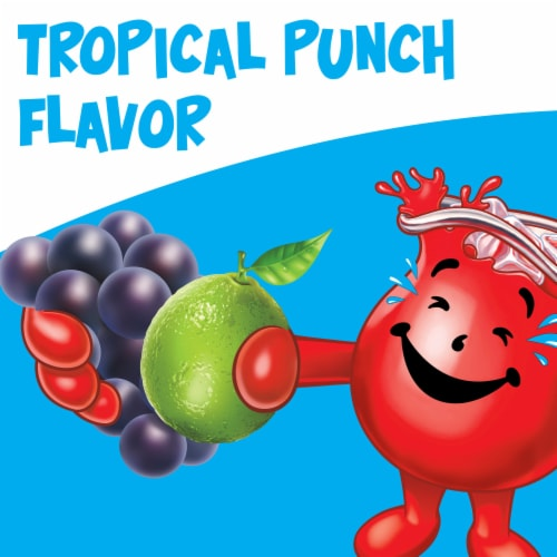 Kool-Aid Tropical Punch Powdered Drink Mix Perspective: back