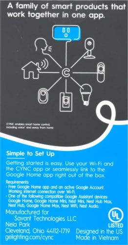 C by GE On/Off Smart Plug Perspective: back