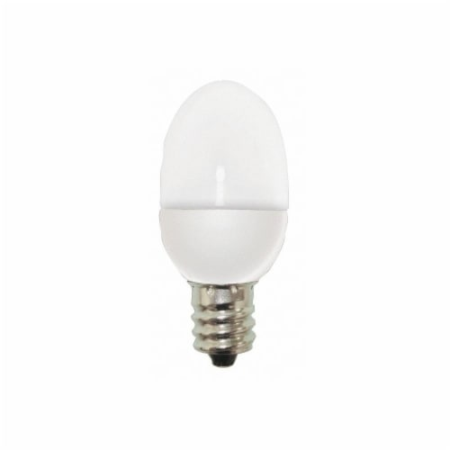 GE 0.5 Watt Candelabra Base Night Light LED Light Bulbs Perspective: back