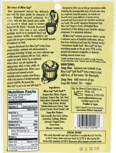 Edward & Son Miso-Cup Instant Soup 3 Count Perspective: back