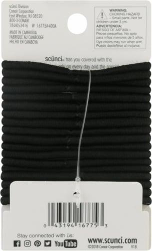 Scunci® No Damage Black Elastic Hair Bands Perspective: back