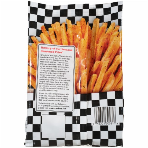 Checkers®/Rally's® Famous Seasoned Fries Perspective: back