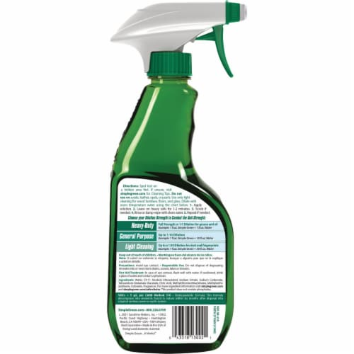 Simple Green 16 Oz. Liquid Concentrate  All-Purpose Cleaner & Degreaser Perspective: back