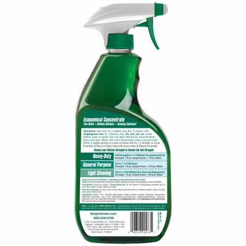 Simple Green All-Purpose Cleaner Spray Perspective: back