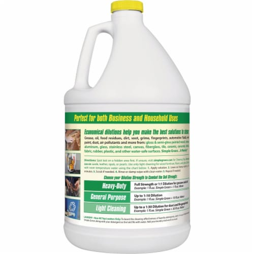 Simple Green 1 Gal. Lemon Liquid Cleaner & Degreaser 3010200614010 Perspective: back
