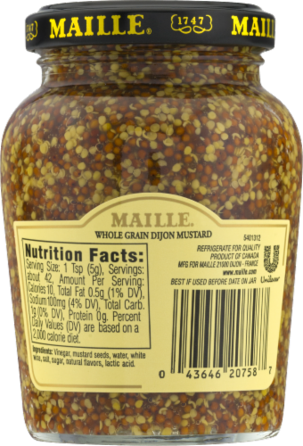 Maille Old Style Dijon Mustard Perspective: back