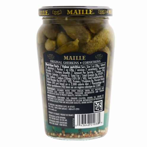 Maille Cornichons Extra Fine Gherkins Perspective: back