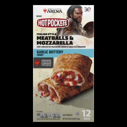 Hot Pockets® Italian Style Meatballs & Mozzarella Garlic Buttery Crust Frozen Snacks Perspective: back