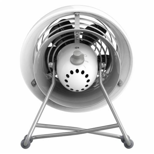 Vornado VFAN Mini Modern Vintage Air Circulator Fan - Ice White Perspective: back