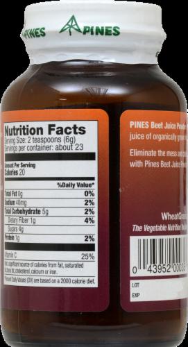 Pines Beet Juice Powder Perspective: back
