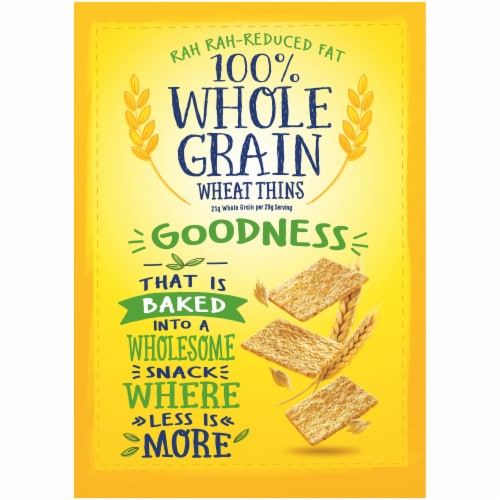Wheat Thins Reduced Fat Whole Grain Crackers Family Size Perspective: back