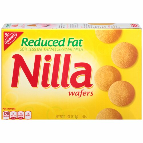 Nilla Reduced Fat Wafers Cookies Perspective: back