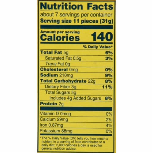 Wheat Thins Big Original Crackers Perspective: back