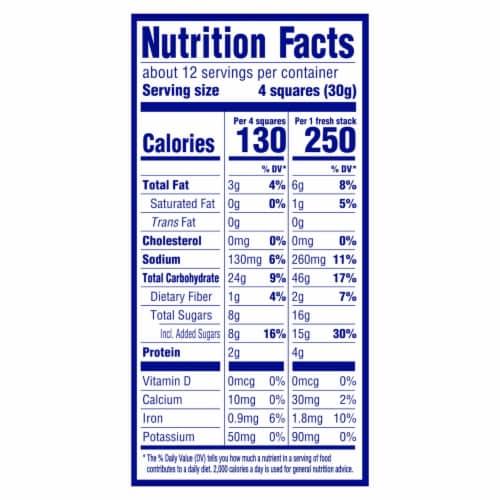 Honey Maid Fresh Stacks Graham Crackers Perspective: back
