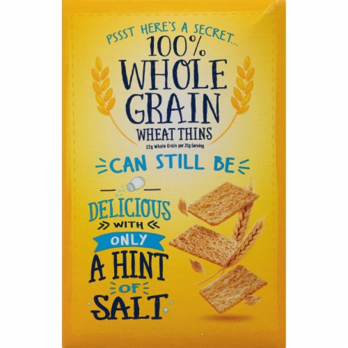 Wheat Thins Hint of Salt Low Sodium Crackers Perspective: back