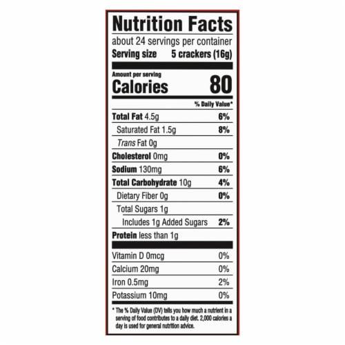 Ritz Original Crackers Perspective: back