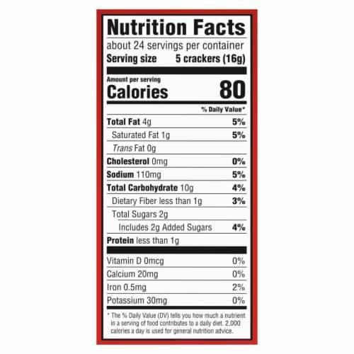 Ritz Honey Wheat Crackers Perspective: back