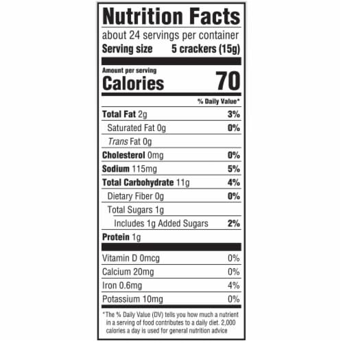 Ritz Reduced Fat Crackers Perspective: back