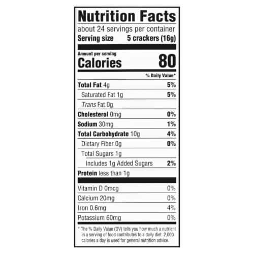 Ritz Hint of Salt Low Sodium Crackers Perspective: back