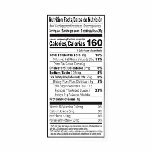Chips Ahoy! Original Chocolate Chip Cookies Family Size Perspective: back