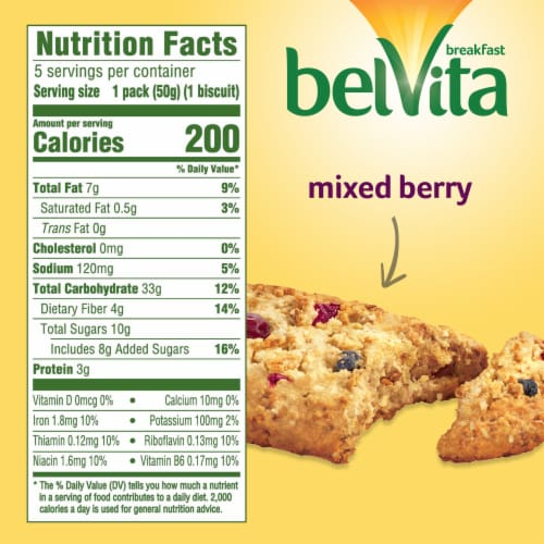 belVita Soft Baked Mixed Berry Breakfast Biscuits Perspective: back
