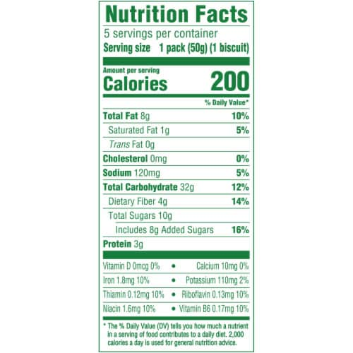 belVita Soft Baked Oats & Chocolate Breakfast Biscuits Perspective: back