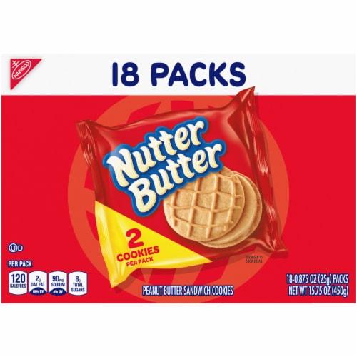 Nutter Butter Peanut Butter Sandwich Cookies Perspective: back