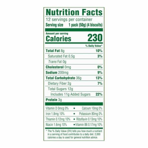 belVita Blueberry Breakfast Biscuits Perspective: back