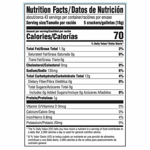 Premium Original Saltine Crackers Family Size Perspective: back