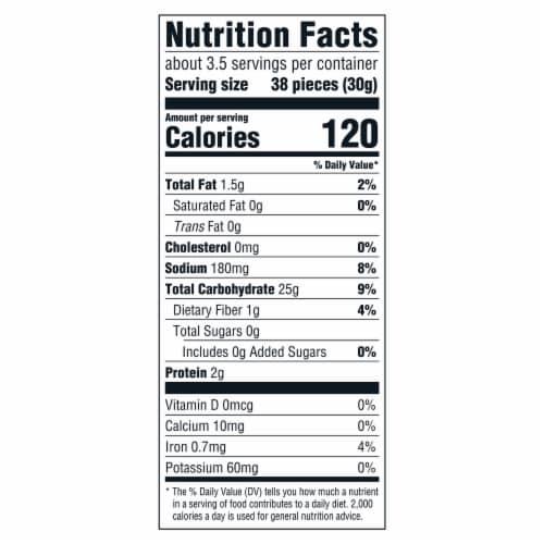 Good Thins Sea Salt Corn Snack Crackers Perspective: back