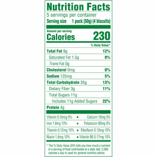 belVita Toasted Coconut Breakfast Biscuits 5 Count Perspective: back