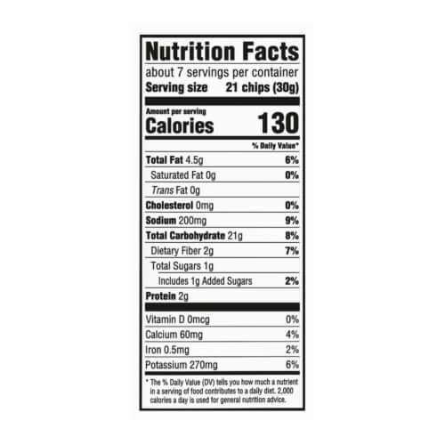Ritz Crisp & Thins Salt & Vinegar Oven Baked Potato and Wheat Chips Perspective: back