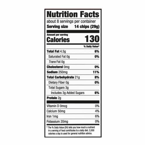 Ritz Original Toasted Chips Perspective: back