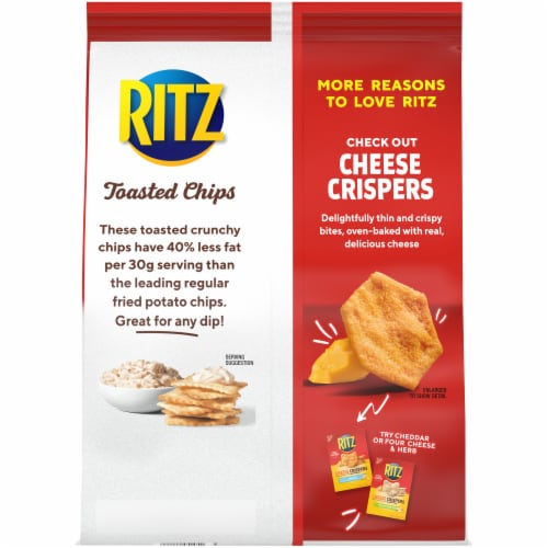 Ritz Sour Cream & Onion Toasted Chips Perspective: back
