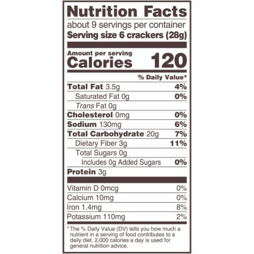 Triscuit Roasted Garlic Whole Grain Wheat Crackers Perspective: back