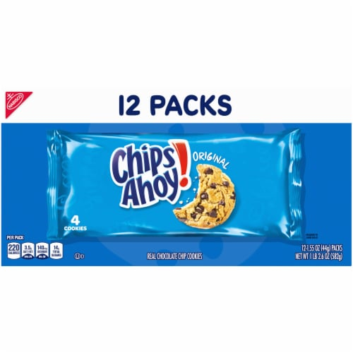 Chips Ahoy! Original Chocolate Chip Cookies Multi-Pack Perspective: back