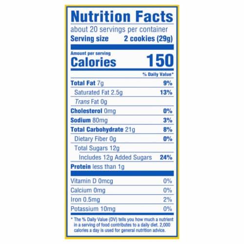Oreo Lemon Creme Sandwich Cookies Family Size Perspective: back