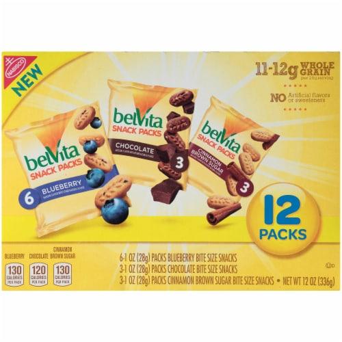 belVita Bites Breakfast Biscuits Snack Packs Variety Perspective: back