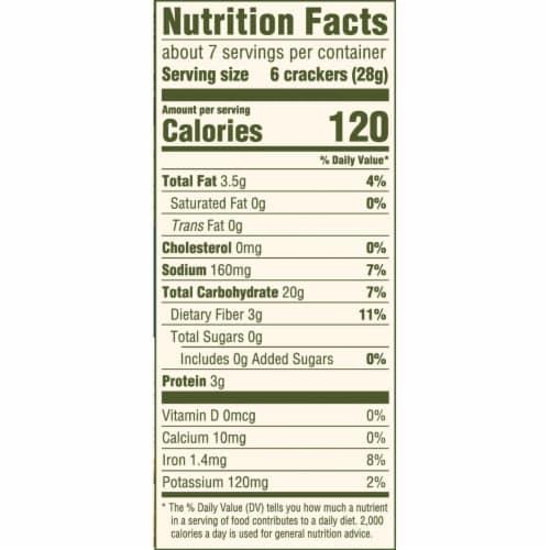 Triscuit Organic Original Crackers Perspective: back