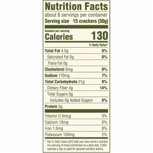 Triscuit Organic Thin Crisps Original Crackers Perspective: back