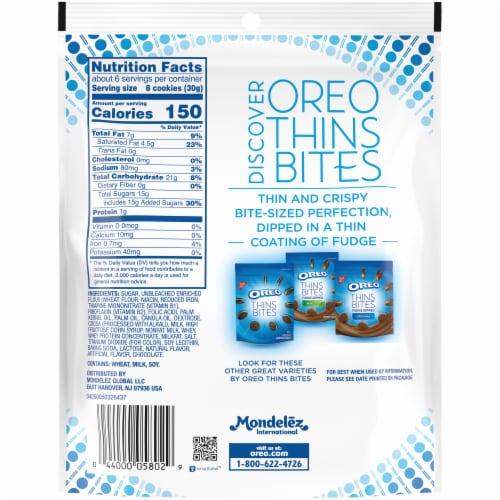 Oreo Thin Bites Original White Fudge Dipped Sandwich Cookies Perspective: back