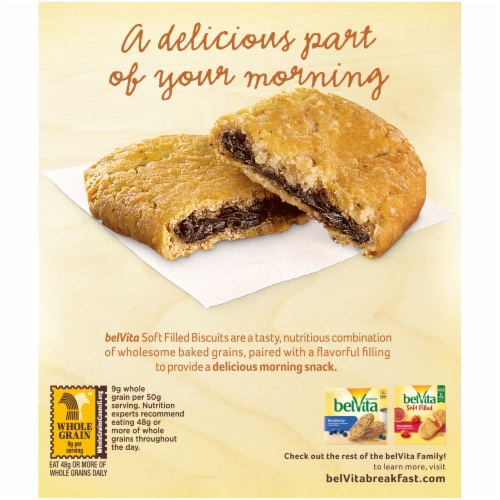 belVita Soft Filled Cocoa Creme Baked Biscuits Perspective: back