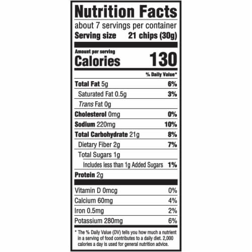 Ritz Crisp & Thins Jalapeno Cheddar Potato and Wheat Chips Perspective: back