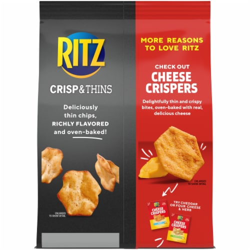 Ritz Crisp & Thins Tabasco Pepper Sauce Potato and Wheat Chips Perspective: back